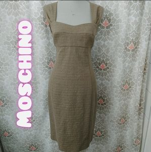 ☀️Moschino Cheap And Chic taupe dress size 12